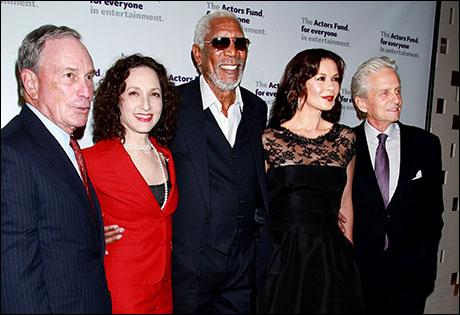 Photo Call: Catherine Zeta-Jones, Brian Stokes Mitchell, Judith Light, Tyne Daly, Michael Douglas at the Actors Fund Annual Gala